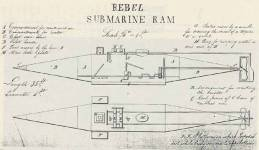 Drawing of Submarine by Signey H. Schell