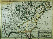 A copy of a british Map of French-claimed parts of North America, 1732