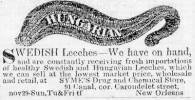 Newspaper Advertisement from The Daily Delta, 1852