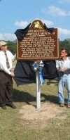 Dedication of the Ancient Mounds Trail Historic Marker at Marksville State Historic Site.