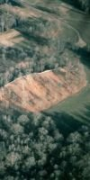 Aerial photograph of Mound A and the western ridges