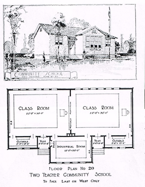Two Room School Plan