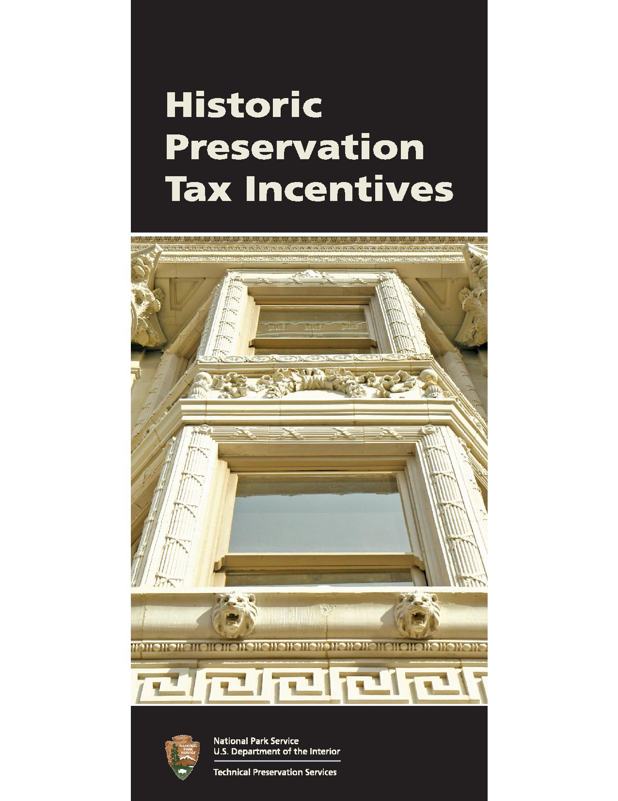 NPS Tax Incentives Booklet Cover
