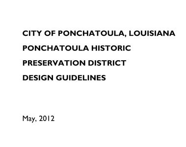 Ponchatoula Design Guidelines