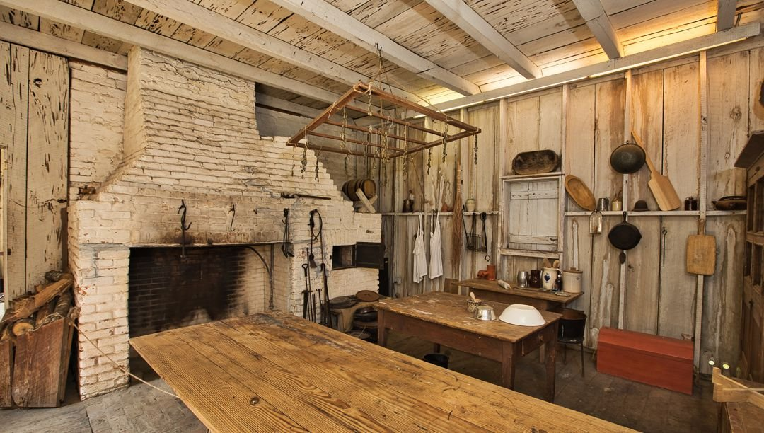 The reconstructed detached kitchen