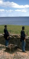 Soldiers on the lookout for invading navies