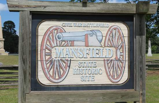 Mansfield State Historic Site sign
