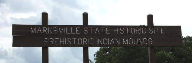 Marksville State Historic Site sign