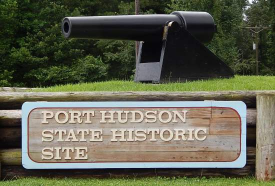 Port Hudson State Historic Site sign