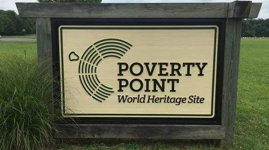 Poverty Point World Heritage Site sign