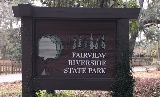 Fairview-Riverside State Park sign