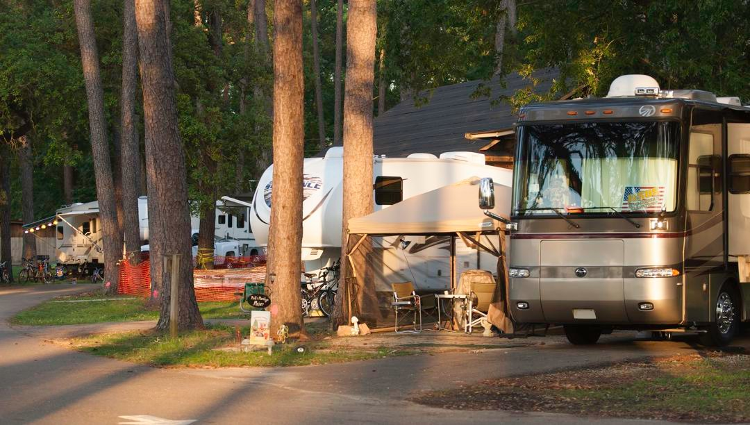 Peaceful campground setting
