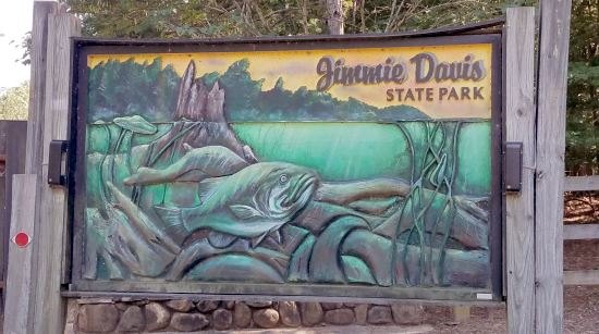 Jimmie Davis State Park sign
