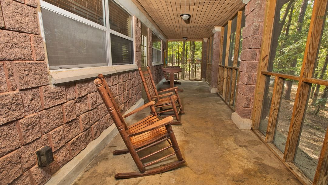 Front porch of the cabins