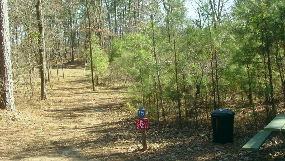 Lake Bistineau's 18-basket disc golf course